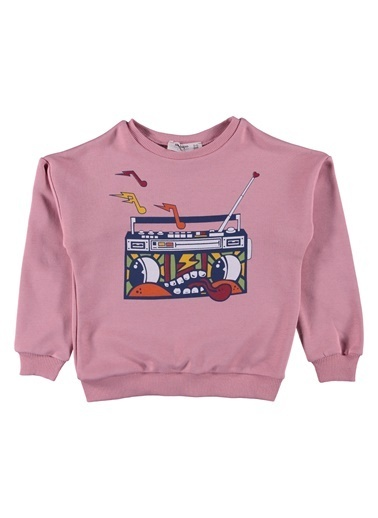 Morhipo Kids Sweatshirt Baskılı O Yaka Pembe